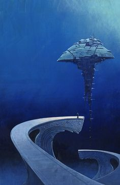 Cover of Iain M. Banks' book The State of the Art, as published by Night Shade Books.  by Les Edwards  http://www.lesedwards.com/galleries/science-fiction/aristarchos/1114