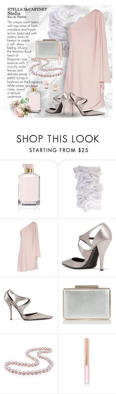 """Pastel Pink & Light Grey"" by bb60477 ❤ liked on Polyvore featuring STELLA McCARTNEY, Halston Heritage, Roger Vivier, Miadora, Oscar de la Renta and Old Navy"