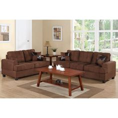 Sofas For Sale Bobkana Traditional Sofa And Loveseat Set In Soft Microfiber With Accent Pillows