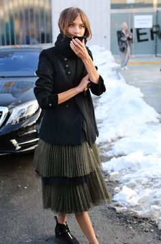 """Alexa Chung. Modest doesn't mean frumpy. For more Fashion Tips (and a free eBook): http://eepurl.com/4jcGX Do your clothing choices, manners, and poise portray the image you want to send? """"Dress how you wish to be dealt with!"""" (E. Jean) http://www.colleenhammond.com/"""