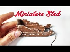 Miniature Sled - DIY Doll Crafts - YouTube