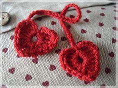 Crocheted heart (use Google translate)