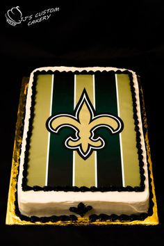 New Orleans Saints Cake: Edible Image