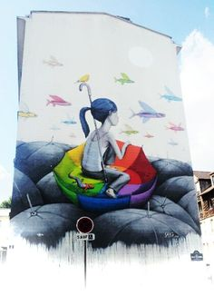 Street Art. Rue E. Deslandres. Paris 13eme.