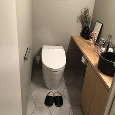 Guest Toilet, New Toilet, Bathroom Toilets, Washroom, Dream Home Design, House Design, Ideas Baños, Yellow Houses, Bathroom Organization