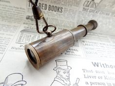 FREE Shipping antiqued brass telescope nautical steampunk necklace Ooak. $ 45.00, via Etsy.