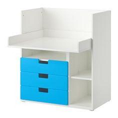 STUVA Desk with 3 drawers - white/blue - IKEA Homeschool Setting Idea