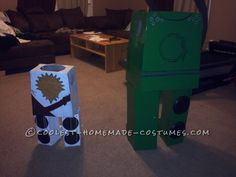 """I had an absolute blast this year making my son's costumes. At first when my oldest son asked me to make him a Lego ninjago I was like"""" I'm so in trouble"""". Homemade Costumes, Lego Ninjago, Halloween Decorations, Brother, Diy Projects, Toy Diy, Handyman Projects, Handmade Crafts, Diy Crafts"""
