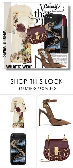 """Join and win !!!"" by dianagrigoryan ❤ liked on Polyvore featuring Valentino, Tom Ford, Casetify, Chloé and NARS Cosmetics"