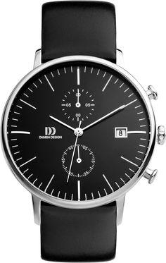 Danish Design - DZ120140 - Montre Homme - Quartz Chronographe - Bracelet Cuir Noir: Amazon.fr: Montres