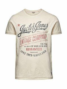 6b9264ba75165f Company Tee - Jack Jones Cool Tees, Cool T Shirts, Tee Shirts, Tee