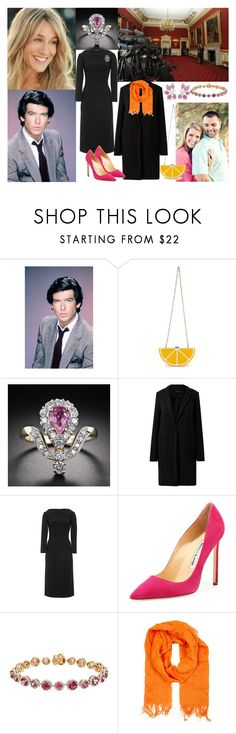 """""""Flashback #1: the engagement announcement of HRH the Prince of Wales and Miss Julia McDonald"""" by midnightkiss98 ❤ liked on Polyvore featuring Remington, Sarah Jessica Parker, Nila Anthony, Manolo Blahnik, QVC and Eskandar"""