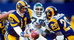 QB Jim Everett hands off to RB Eric Dickerson when the Rams were in Los  Angeles ea0a7ce0f