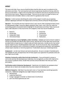Graduate School Admissions Resume   Http://exampleresumecv.org/graduate  School