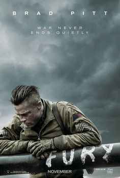 The poster for Brad Pitt's new movie, 'Fury'