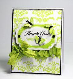 One should always say thank u with a card....i'm old school.