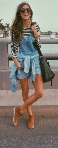 """for added """"90s"""" flare, tie a shirt around the waist for an even more relaxed look"""
