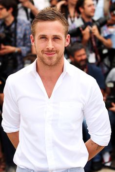 That grin almost makes you forget about the Kate Gosselin thing happening on the back of his head. | The 33 Most Jizz-Worthy Moments In Ryan Gosling's 33 Years On Earth