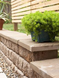 retaining wall and freestanding wall block idea & photo gallery ... - Patio Block Ideas