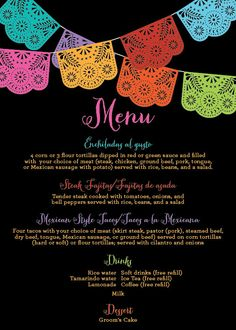 Papel Picado Mexican Themed Party / Rehearsal by DelightPaperie