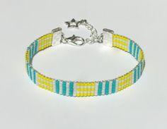Bracelet tissé en perles Miyuki Delica - Mauzie
