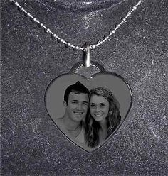 Valentine Gifts: Personalized Stylist Heart Necklace- Ship Next Day -Valentines Day Gift BUY IT NOW ONLY: $15.95