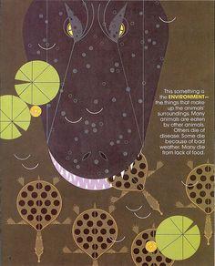 Charley Harper - from a 1973 insert to Ranger Rick magazine.