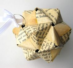 Shakespeare Origami Ornament - Upcycled Modular