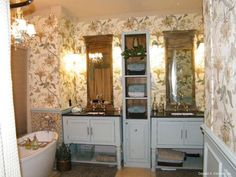 Master bathroom in The Kellswater, plan 1189. http://www.dongardner.com/plan_details.aspx?pid=3426. #Master #Bathroom #Home