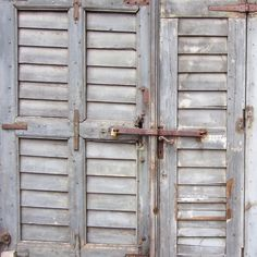 Items similar to Old Rusty Wooden Door Photograph - French Home Decor - Faded Grey Blue Wood - Print on Etsy Cubby Shelves, Tall Cabinet Storage, Old Windows, Windows And Doors, Gris Taupe, English Cottage Style, Old Shutters, Shutter Doors, Fine Art Photo
