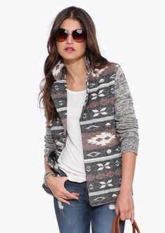 Aztec Sweater Jacket