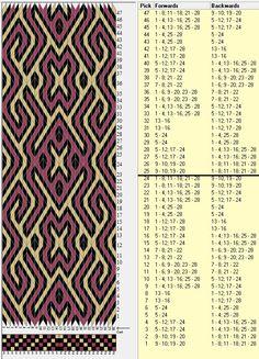 28 tarjetas, 3 colores, repite cada 24 movimientos // sed_110a diseñado en GTT༺❁