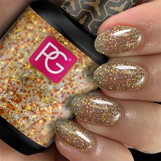 Manicures, Nails, Pedicure, Nail Polish, Glitter, Up, Gold, Pink, Shades