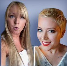 Pixie Bob Hairstyles, Short Haircuts, Cool Hairstyles, Short Styles, Long Hair Styles, Long Hair Cut Short, Before And After Haircut, Hair Tattoos, Hair Dye Colors