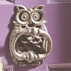Owl Door Knocker Pinned by www.myowlbarn.com                                                                                                                                                                                 More
