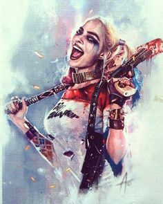 Harley Quinn by Rudy Ao Comic Art Harley Quinn Tattoo, Harley Quinn Drawing, Joker And Harley Quinn, Der Joker, Harely Quinn, Deadshot, Dc Comics Art, Marvel Comics, Wonder Woman
