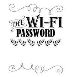 Wi-Fi Password Sign Template