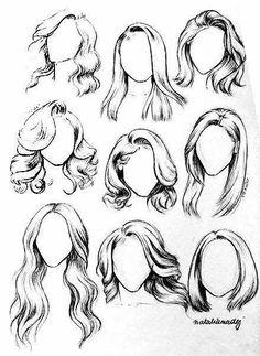 Pencil Art Drawings, Art Drawings Sketches, Animal Drawings, Hair Drawings, Charcoal Drawings, Sketch Art, Drawing For Beginners, Drawing Tips, Drawing Drawing