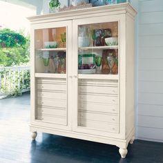 I pinned this Bag Lady's Cabinet in Linen from the Paula Deen event at Joss and Main!