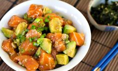 Hawaiian poke salmon