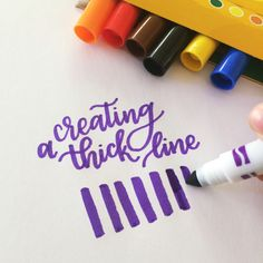 Lettering With Crayola Markers – Lyss Tyler Letters Crayola Calligraphy, Calligraphy Tutorial, Learn Calligraphy, Lettering Tutorial, Calligraphy Letters, Typography Letters, Modern Calligraphy, Calligraphy Quotes, Doodle Lettering