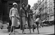 Modeling Chanel; photograph by Paul Schutzer. Paris, 1961