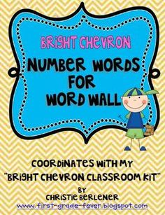 Number Words for your word wall. {Freebie}