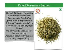 Home of Spices Rosemary Leaves (Pure Herbs for Seasoning) Rosemary Plant, How To Dry Rosemary, How To Dry Basil, Gourmet Foods, Gourmet Recipes, Evergreen Bush, Aromatic Herbs, Spices, Leaves