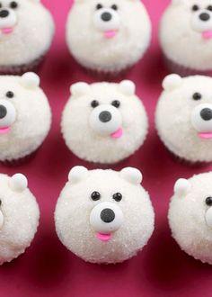 Mini Polar Bear Cupcakes by Bakerella Repin & Follow my pins for a FOLLOWBACK!