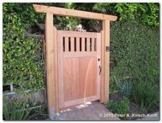 50 Classic Wooden Gates Will Make Your Home Look Great - The Urban Interior Backyard Gates, Garden Gates And Fencing, Garden Doors, Fence Gates, Wooden Garden Gate, Wooden Gates, Side Gates, Entrance Gates, Wooden Gate Designs