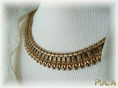 Collier Barel'ys Or pour compléter avec le Bracelet Nelly sur mon blog http://perlepuca.canalblog.com/ Merci ...