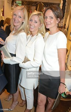 Emma Farah, Marie Chantal, Crown Princess of Greece, and Saffron Aldridge attend the book launch party for 'India Hicks: Island Style' at Ralph Lauren Fulham Road on April 28, 2015 in London, England.