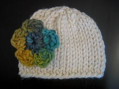 Knitting PATTERN Hat Easy Knit Baby Beanie by PoshPatterns