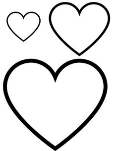 Printable Heart Template, Heart Shapes Template, Printable Shapes, Shape Templates, Stencil Templates, Free Printables, Heart Coloring Pages, Free Coloring Pages, Printable Coloring Pages